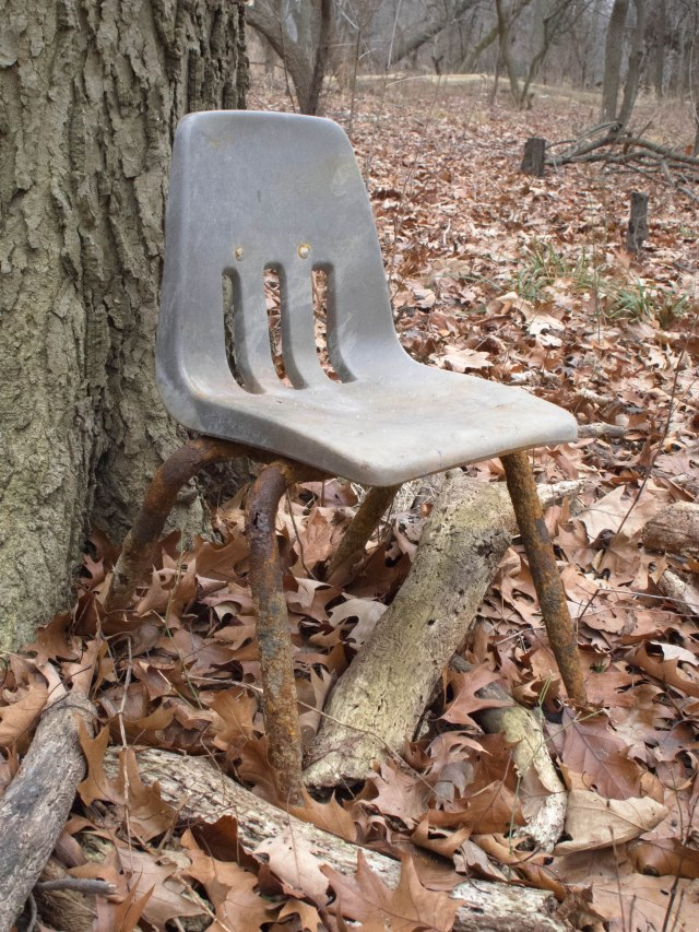 Looks like someone else has been sitting around in these here woods.